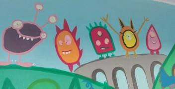 Une fresque pour la salle pédagogique