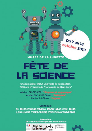 Fête de la science du 7 au 18 octobre 2019
