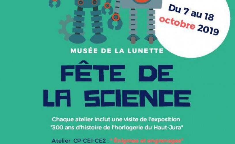 Fête de la science du 7 au 18 octobre 2019